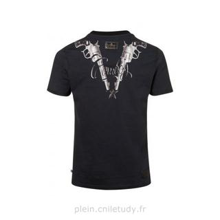 philipp plein t shirt cowboy noir philippe plein t. Black Bedroom Furniture Sets. Home Design Ideas