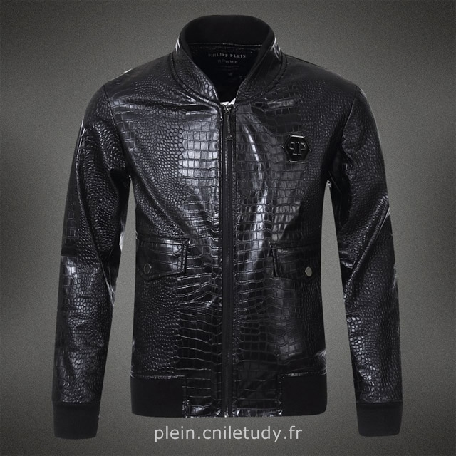 blouson philipp plein cuir philippe plein veste homme off. Black Bedroom Furniture Sets. Home Design Ideas